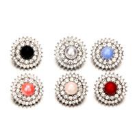 bohemia crystal necklaces toptan satış-Noosa Opal Taş 18mm Snap Düğmesi Takı İnci Boncuk Kristal Yapış Topaklar Charm DIY Zencefil Düğme Bilezik Kolye Bohemia Bulguları