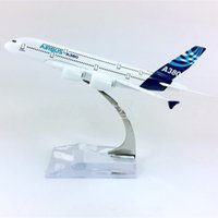 Wholesale toy jets - 14cm Alloy Aircraft Modle Solid Airbus Original Plane Model Simulation Flying Mold Child Birthday Gift New Arrival 22bz WW