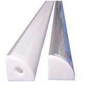 Wholesale profiles aluminium - led aluminium profile,2m per Set,LED Aluminum extrusion profile for led strips with milky diffuse cover or transparent cover SN1616