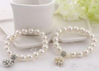 ingrosso gioielli da sposa in rilievo-Luxury fashion designer Perla di perline Bracciale Da sposa gioielli di fascino per le donne signora ragazza bella Bracciale elastico bel matrimonio jewellry