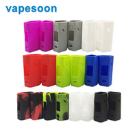 Wholesale Electronic Cigarettes Rubber - Vapesoon Silicone Rubber Case Sleeve Protective Cover for WISMEC Reuleaux RX2 3 Mod Electronic Cigarette Skin Case Bag 2pcs pack