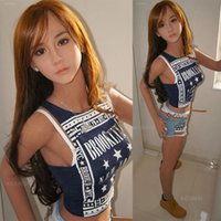 Wholesale big size pussy toys for sale - Group buy Japanese Real Silicone Sex Dolls for Men Realistic Big Breast Masturbator Vagina Pussy Adult Sexy Toys Metal Skeleton Love Doll