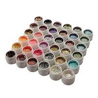 glitzer gel maniküre großhandel-36 Farben Glitter Pailletten UV Gel Nail Manicure Nail Art
