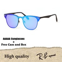 Wholesale Red Hot Eyes - High Quailty Newest Hot sale Aluminum Magnesium Sunglasses Men Women Brand designer Mirror Eyewear sport glasses With Box and cases