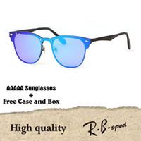 Wholesale hot pink designer eye frames - High Quailty Newest Hot sale Aluminum Magnesium Sunglasses Men Women Brand designer Mirror Eyewear sport glasses With Box and cases