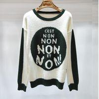 diseño de suéter multicolor al por mayor-2018 Autumn Knitwear Women's Design Jerseys de jersey de punto Casual Jerseys de múltiples colores Jerseys de manga larga NON Sweater