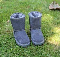 ingrosso scarpa antiappannante neve-2018 nuovissimo Australia classico per bambini scarpe autunno e inverno tubo WGG 5281 stivali da neve per bambini più velluto anti-skid in pelle scarpe calde