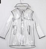 ingrosso poncho di moda femminile-Moda impermeabile trasparente per uomo e donna coppia modello soft poncho outdoor EVA