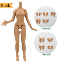Wholesale big inflatable dolls resale online - fortune days Black skin body inch For inch Blyth doll with Big Breast and nipple steady neck Factory blyth