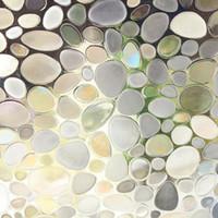 ingrosso pellicola in vetro da bagno-45x100 cm 3D Static Cling Finestra Rimovibile Film Macchiato Pebble Glass Sticker Bagno Scrub Glassato Autoadesiva Window Film