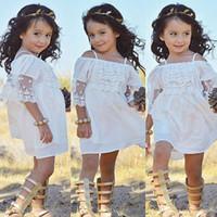 neue prinzessin baby kleid großhandel-2019 neue Sommer Baby Mädchen Spitze trägerlosen Kleid Kinder Strumpf Prinzessin Kleider Festzug Urlaub Kinder Boutique Kleidung C3516