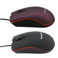 usb wire mouse al por mayor-Lenovo M20 Mini Wired 3D Optical USB Gaming Mouse Ratones para computadora Laptop Game Mouse con caja de venta al por menor 2018