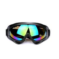 лыжи солнцезащитные очки глазные лыжи оптовых-Открытый Велоспорт очки анти-туман UV400 катание на лыжах езда Спорт пылезащитный очки Очки черный