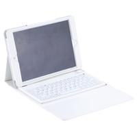 schutzhülle ipad air keyboard großhandel-Ultra Thin Water Resistant Wireless Bluetooth Tastatur mit schützenden faltbaren PU Ledertasche für iPad Air für iPad 5 6