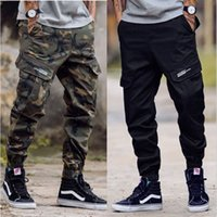 Wholesale hiphop jogging pants - Brand New Jogging Pants Hiphop Mens Pants Women Camouflage Trousers Army Green Beam Foot Trousers Free Shipping