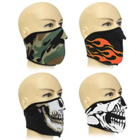 Wholesale neoprene half face bike for sale - Neoprene Half Face Reversible MTB Bike Mask Ultra Comfortable Cycling Face Mask Lightweight Breathable Bicycle Face Mask