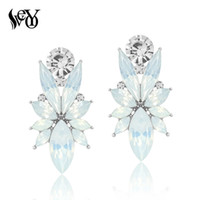 Wholesale zinc alloy nickel free for sale - Group buy VEYO Colors Crystal Stud Earrings For Woman Trendy Personality Big Earrings Zinc Alloy Lead free nickel free
