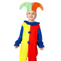 Wholesale cosplay costume online - Kids Clothing Baby Clothes Baby Boy Clothes Boys Clothes New Harlequin Costume Kids Clown Halloween Fancy Dresses Cosplay Set MMA628