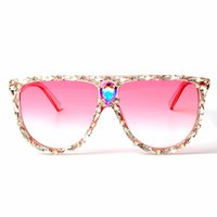 ingrosso occhiali da sole rosa grandi-Occhiali da sole quadrati oversize Donne Designer Brand Grande lente Occhiali da sole rosa Cristallo femmina uv400 Cornice trasparente