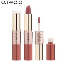 Wholesale lipsticks mate for sale - Group buy 12 O TWO O in Matte Lipstick Lips Makeup Cosmetics Waterproof Pintalabios Batom Mate Lip Gloss Rouge free ship