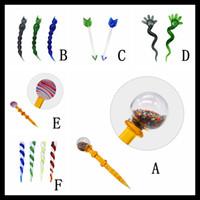 Wholesale arrow pens for sale - Pyres Glass Various Color Arrow Shape Cute Design Dab kit Dab Pen Glass Dabber for Quartz Banger quot inch Wax Tool Dabber
