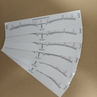 Wholesale eyebrow stencils makeup tools for sale - 50Pcs Disposable Eyebrow Stencil Makeup Microblading Measure Tattoo Ruler Beauty Tool