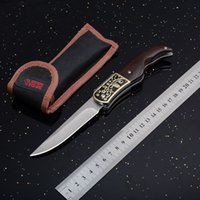 ingrosso coltelli boda-Boda 3029A Kingfisher Tactical Coltello Pieghevole 5Cr15mov 57HRC Manico In Legno di Campeggio Esterna Caccia Sopravvivenza Pocket Strumenti EDC