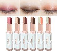 kalem göz farı toptan satış-Makyaj NOVO kadife kademeli değişim çift renk göz farı kalem tembel göz farı Sopa 6 farklı renkler Marka kadife Degrade Ton Degrade
