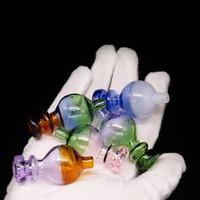 cúpula de aceite dabber al por mayor-25mm Color Carb Cap cúpula de bola redonda para Evan shore Cuarzo Banger Nails Dabber Bongs Dab Oil Rigs azul verde rosa