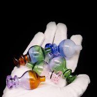 dab kubbeleri toptan satış-25mm Renk Carb Kap yuvarlak top kubbe Evan shore Kuvars Banger Çiviler Dabber Bongs Dab Yağ Kuleleri mavi yeşil pembe