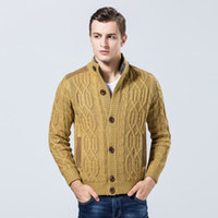 f8f192152 Casaco Cardigan Camisola dos homens Marca Outono Inverno Moda Casual  Cardigan Camisola Casaco Solto Fit Roupas de Malha Planas Quentes
