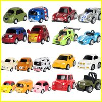 Wholesale Toy Buses For Kids - Mini resilient alloy car Cross-border supply boomerang cars model simulation fire bus car children toy car for kids toys