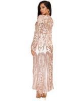 женщины формального кардигана оптовых-Блесток длинный кардиган пальто формальные с длинным рукавом открытый фронт пальто партии черный Sheer сетки блестящие кардиганы для женщин DW637