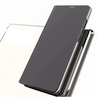 bling чехлы для 5c оптовых-Зеркало бумажник Case для Redmi 5 Plus Note 5A 3 4X 4X Xiaomi 5c 6 3 роскошные официальный флип кожаный чехол Bling металлические хромированные чехол