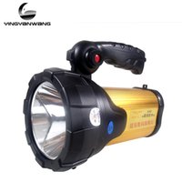 Wholesale High Power Led Lantern - Warsun 60w High power portable lantern rechargeable waterproof Searchlight Desk lamp side light US EU charger Built-in battery