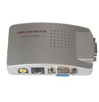 коробка для ноутбука оптовых-2018 новый ПК ноутбук VGA для AV RCA TV Monitor S-video адаптер сигнала конвертер Switch Box jn5