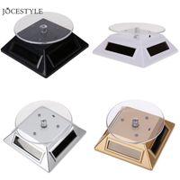 döner ışık stand led toptan satış-Saat İzle Parçaları Aksesuarları 3 Renk LED Güneş Işık Vitrin 360 Turntable İzle Dönen Ekran Standı Araçları