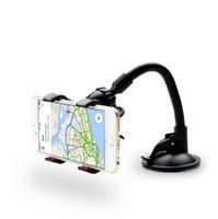 gps sahipleri bağlar toptan satış-Araç Telefonu Tutucu, Esnek 360 Derece Ayarlanabilir Araç Montaj Cep Telefonu Tutucu Smartphone Için 3.5-6 inç, Destek GPS