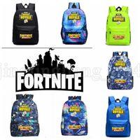 Wholesale wholesale backpacks for kids - 11 design Fortnite Backpacks Fortnite Schoolbag for Boys Girls Kids Cartoon Printing Backpacks Schoolbag travel backpack KKA5519