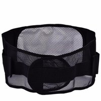 воздухопроницаемая талия поясницы оптовых-Waist Belt Support Mesh Breathable BLack Belt Waist Support Adjustable Lumbar Brace Guard Sport Protection Men Protector