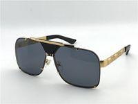 büyük logolar toptan satış-Yeni erkekler vintage tasarımcı güneş gözlüğü retro tasarım büyük yüz logosu 2187 kare çerçeve çerçevesiz UV400 lens ile en kaliteli steampunk tarzı kutusu