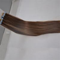 preços de cabelo de marcas venda por atacado-Elibess marca-onda reta fita colorida em extensões de cabelo 2.5gr st 40 pcs lote cabelo humano promocional price aceitar o transporte da gota
