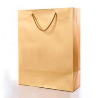 ingrosso confezione regalo riciclata-shopping bag di lusso laminazione opaca shopping shop disponibile per logo personalizzato printng sacchetto di imballaggio regalo boutique riciclato