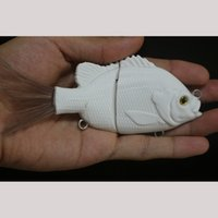 Wholesale GYFISHING Unpainted Fishing Jointed Fishing Sunfish Swimbaits with Hair Tail