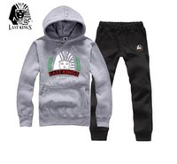 Wholesale-Last König Marke Herbst Mens Casual Slim Fit Hoodies Hoodies Sweatshirt männlichen Sportbekleidung Patchwork Fleece Jacke Trainingsanzug