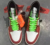 Wholesale Top High Cut Basketball Shoes - 2017 New retro 1 Royal Red Basketball Shoes Mens OG Retro High Royal Sneakers Sports Shoes Top Quality With Original Box US 7-13