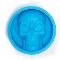 yenilik buz tepsileri toptan satış-Kafatası Silikon Küçük Buz Küpü Tepsiler Silikon Tepsi Buz Kalıpları 4 Renkler Mevcut Kalıp PHA Ücretsiz FDA Gıda Sınıfı Parti Bar Yenilik