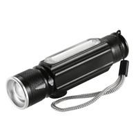 led-taschenlampen großhandel-Y5435 USB 180LM Taschenlampe mit Magnet Handy LED Taschenlampe Wiederaufladbare Taschenlampe Blitzlicht Pocket LED Zoom
