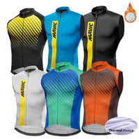 Wholesale Cycling Team Winter Jacket - Winter thermal fleece Cycling windproof Sleeveless Vest jacket Mavic Mtb Bike Bicycle keep warm pro team men cycling clothing ropa ciclismo