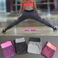 Wholesale Nylon Yoga Pants - Sports Yoga Lady Slim Leggings Women Deportivas Mujer Fitness Workout Trousers Elastic High Waist Pencil Pants Leggins Jeggings Gothic